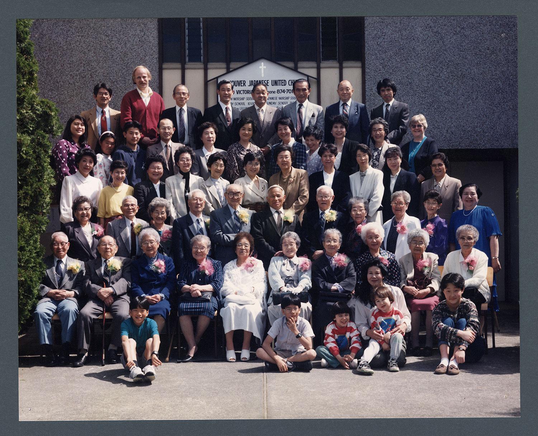 Group portrait of congregation, seniors' day