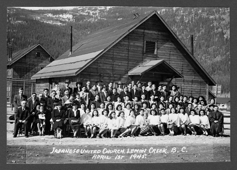 Japanese United Church, Lemon Creek, BC, 1945