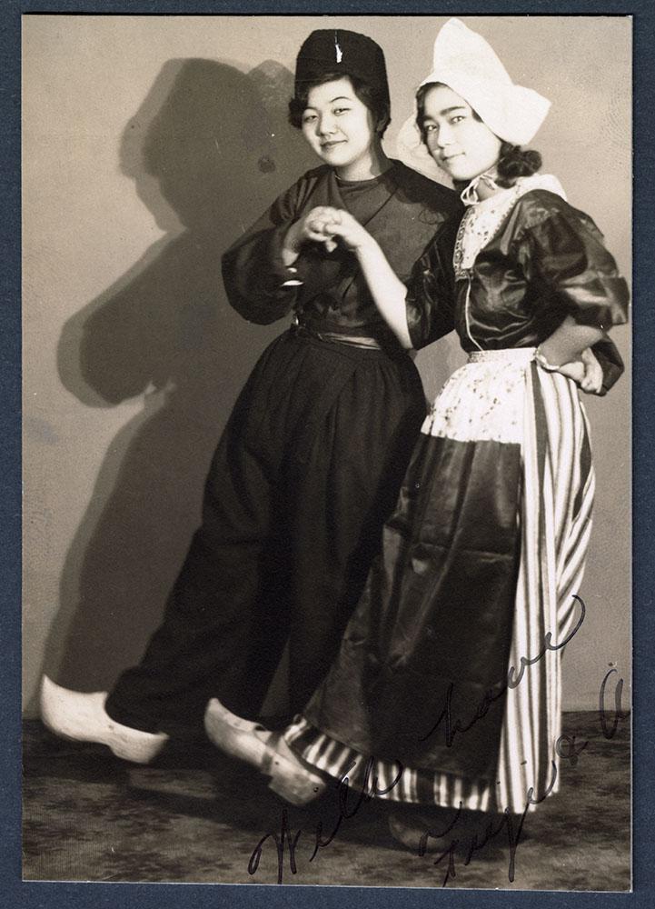 Two CGIT members dancing in costume