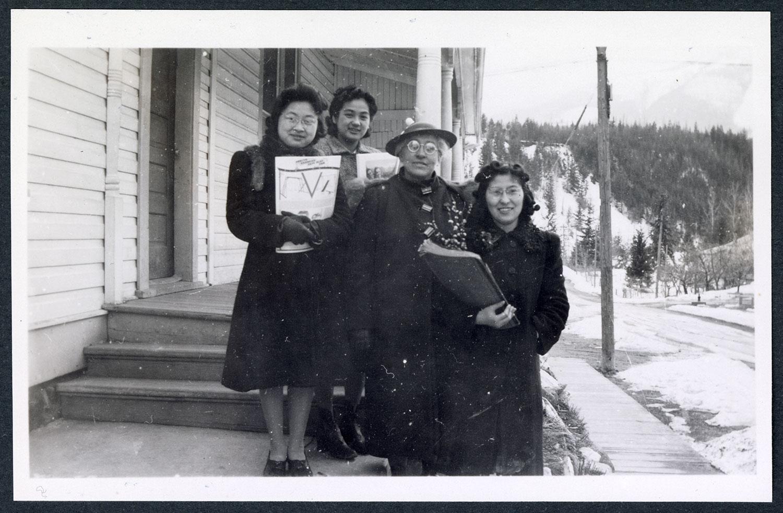 Miss Tait and kindergarten teachers, Kaslo, BC: Recto