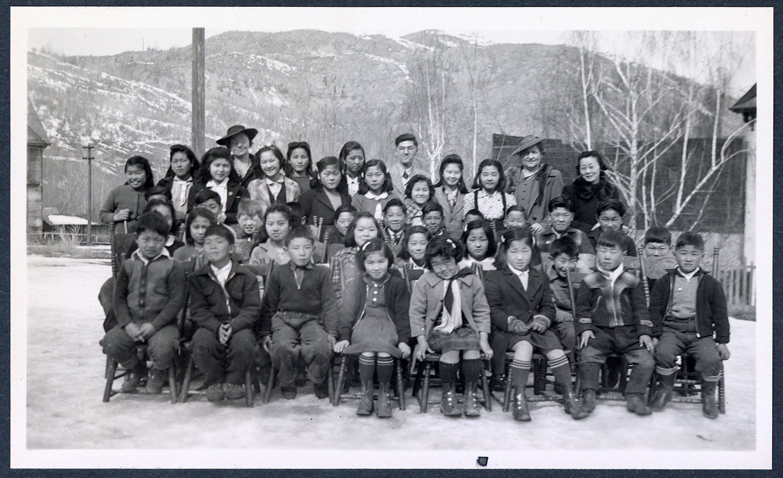 United Church school children and teachers, Greenwood, BC: Recto