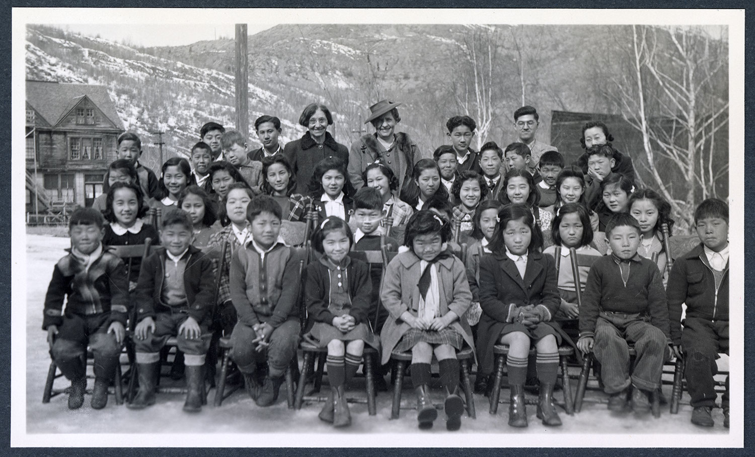 United Church school children and teachers, Greenwood, BC: Recto