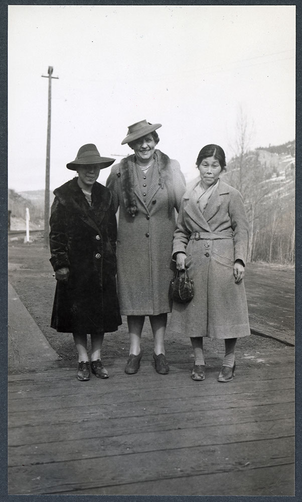 Three United Church women at Greenwood, BC: Recto