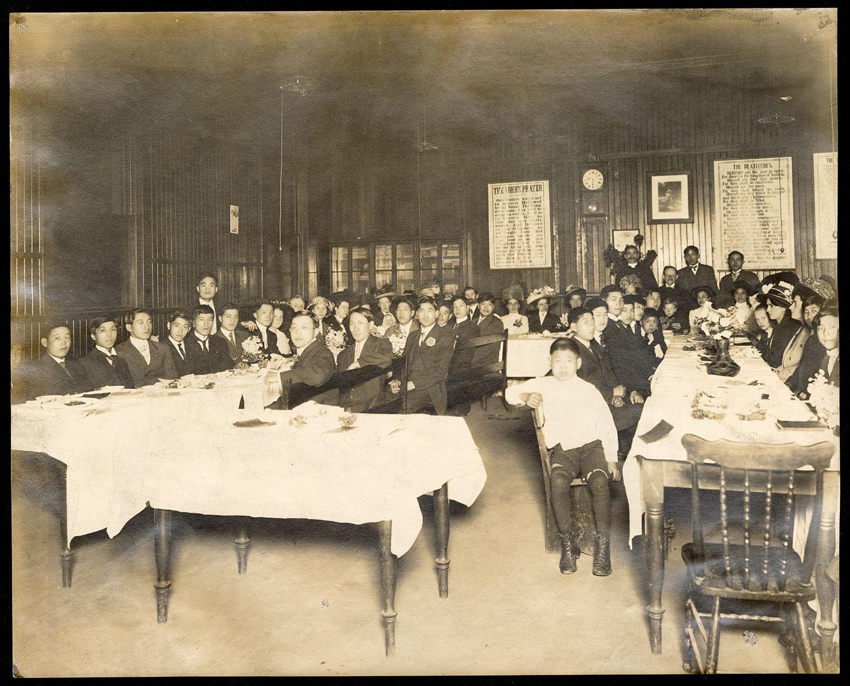 Congregational dinner, Powell Street Church hall