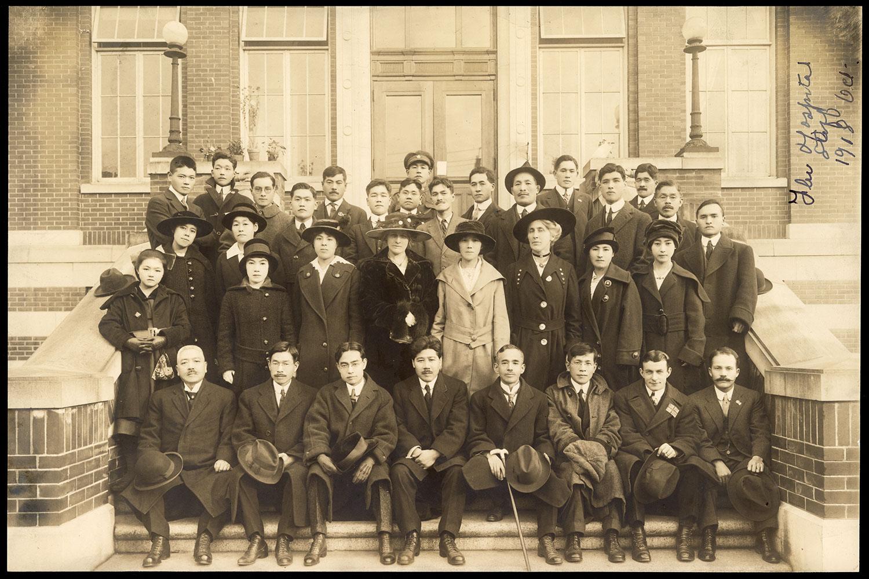 Flu Hospital staff, 1918
