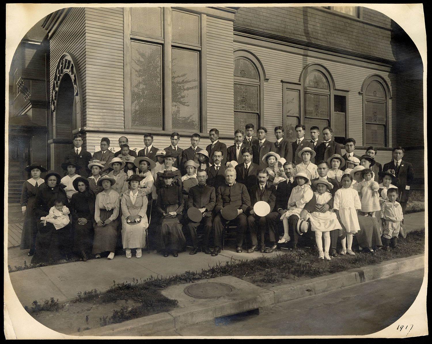 Group portrait in front of Powell Street Church