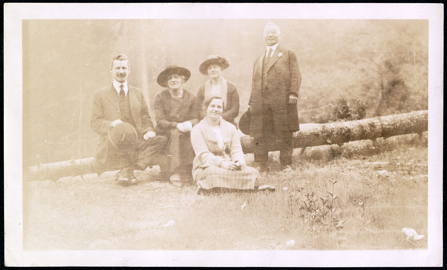 Dr. S.S. Osterhout and church staff in forest setting