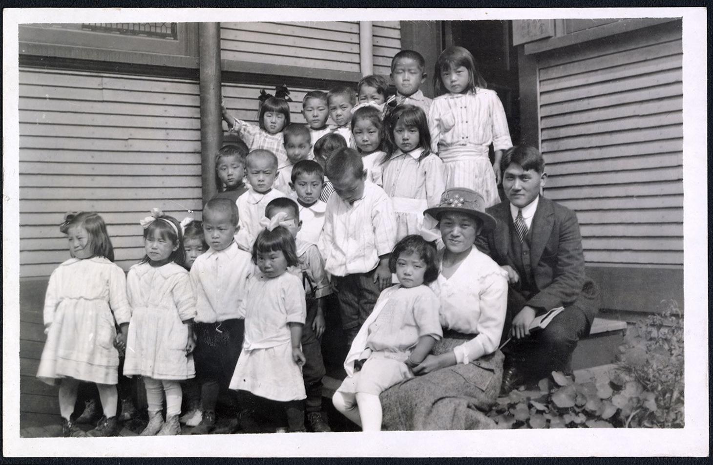 Kindergarten class by the Powell Street Church