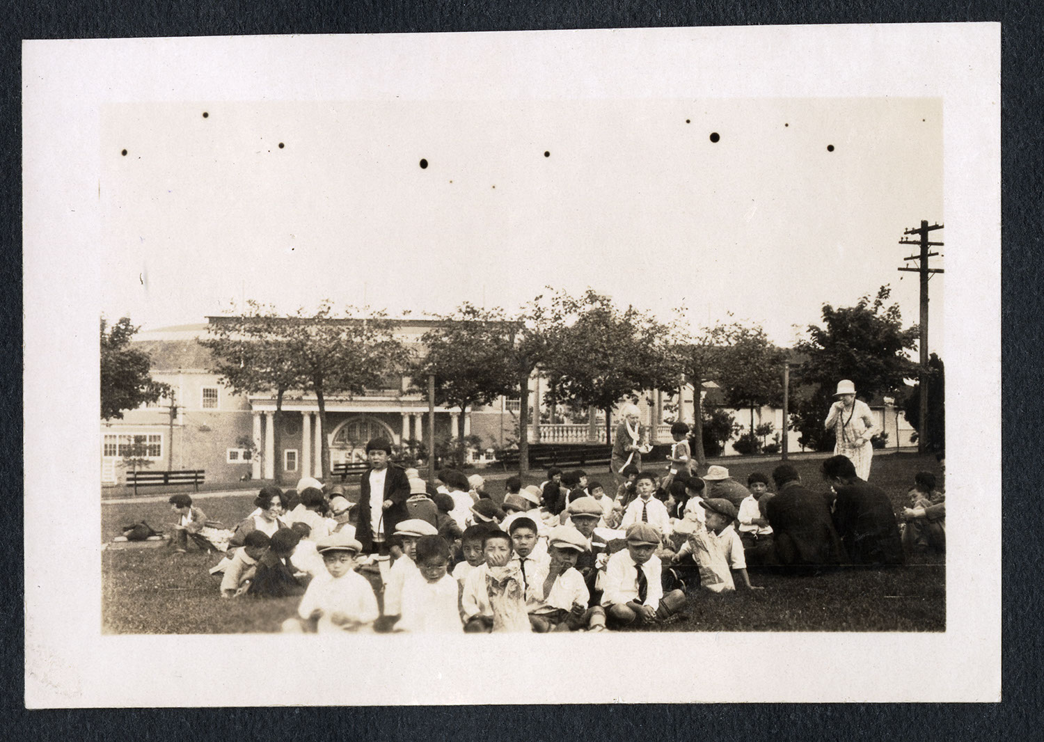 Children's picnic in the park
