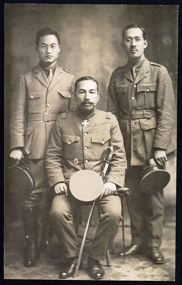 Colonel H. Hirayama, Chief, T. Sagara and R. Okumura