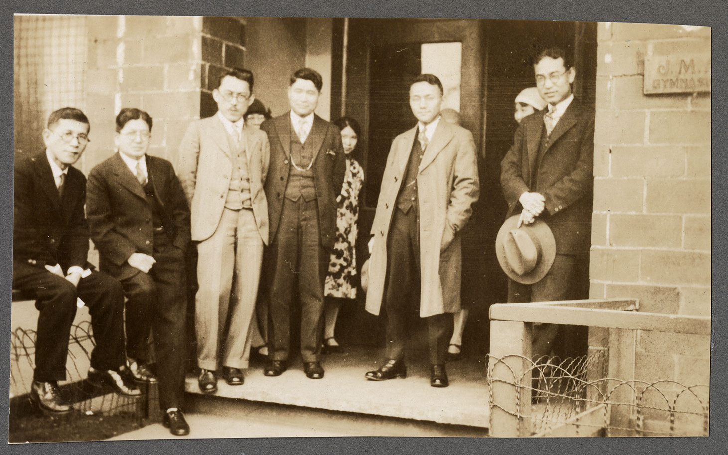 Group of men at the Powell Street gymnasium