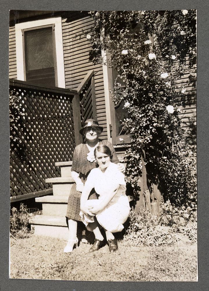 Portrait of Etta DeWolfe and companion