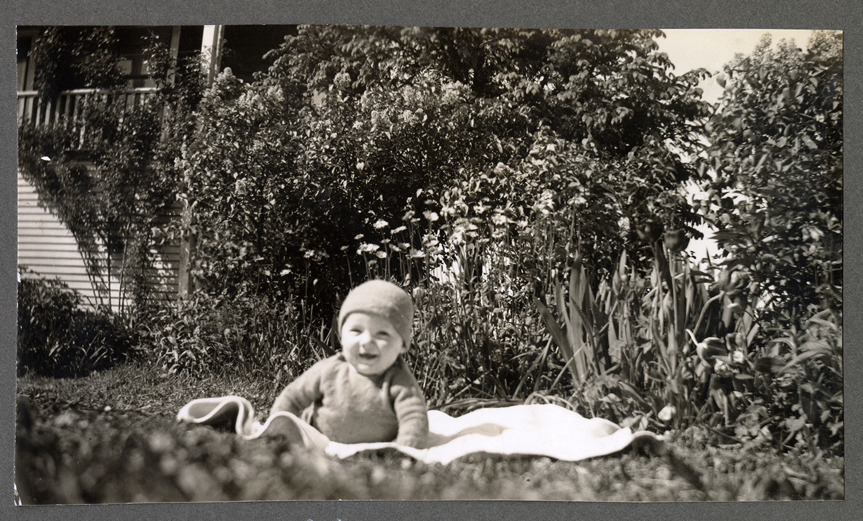 A baby in the garden