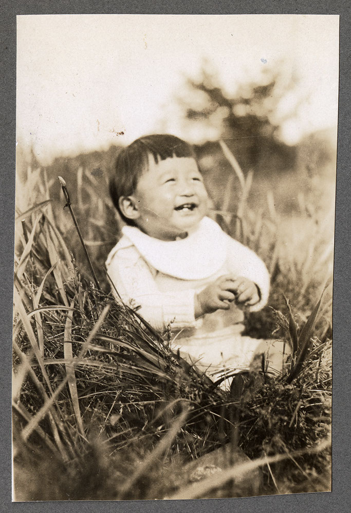 Infant on the grass