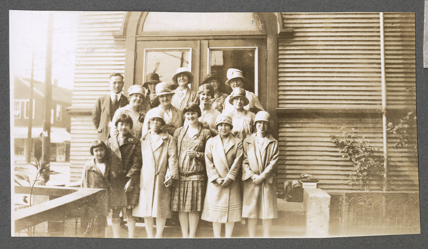Group portrait in front of the Powell Street Church
