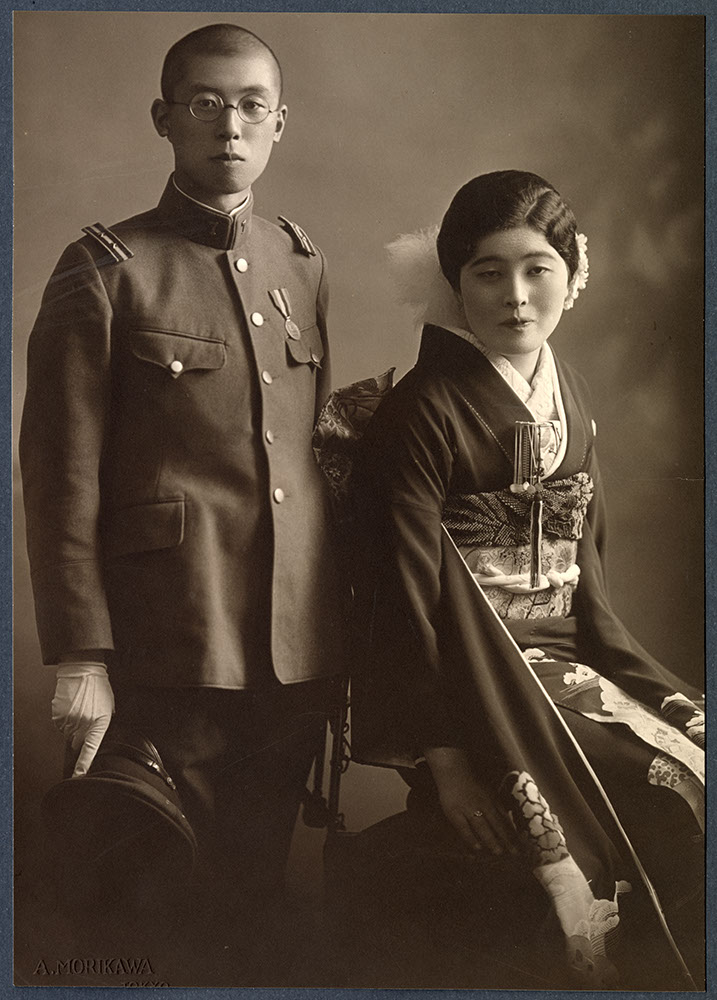 Formal portrait of young couple
