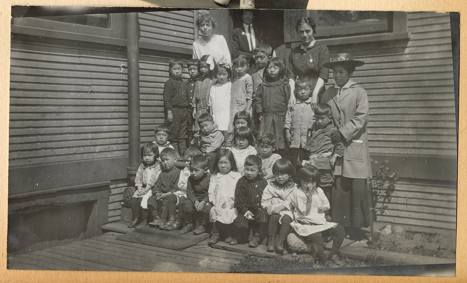 Children and teachers outside Powell Street Church