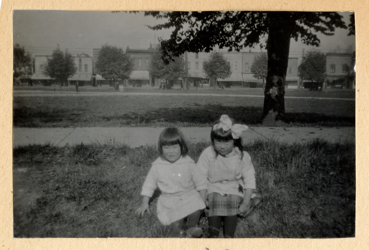 Two little girls at the park