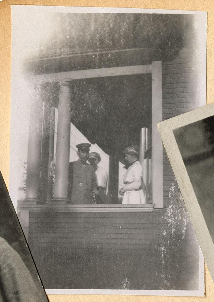 Group on missionary residence verandah