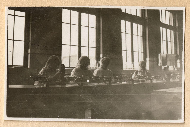 Hospital staff in Strathcona School kitchen