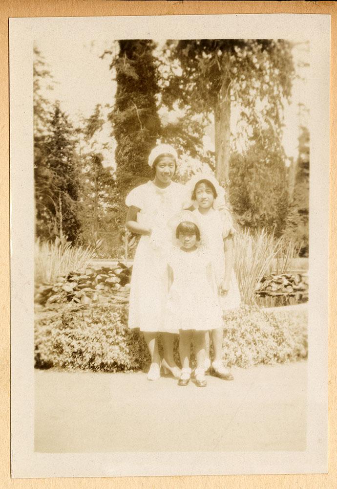 Three girls at the park