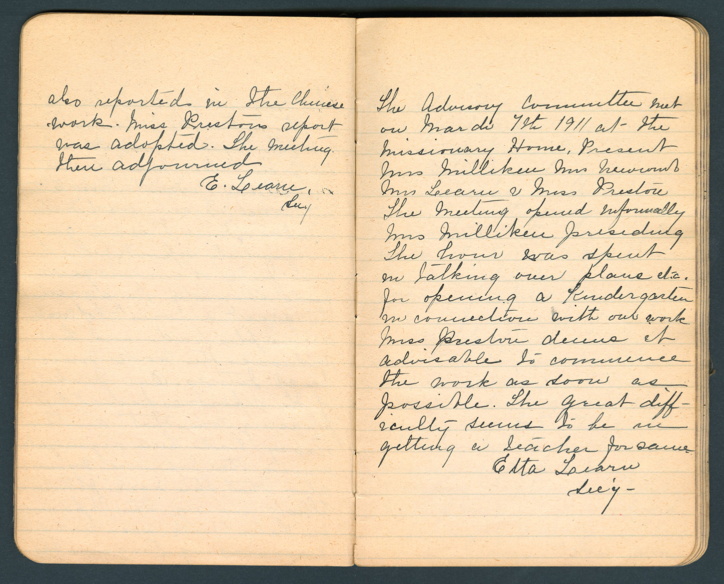 Excerpt, minutes of the Advisory Committee on Japanese Missions