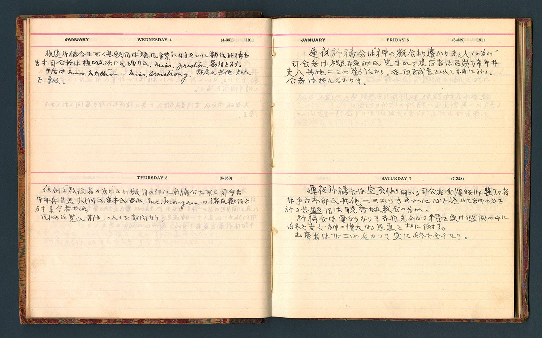 Diary entries, January 4 - 7, 1911