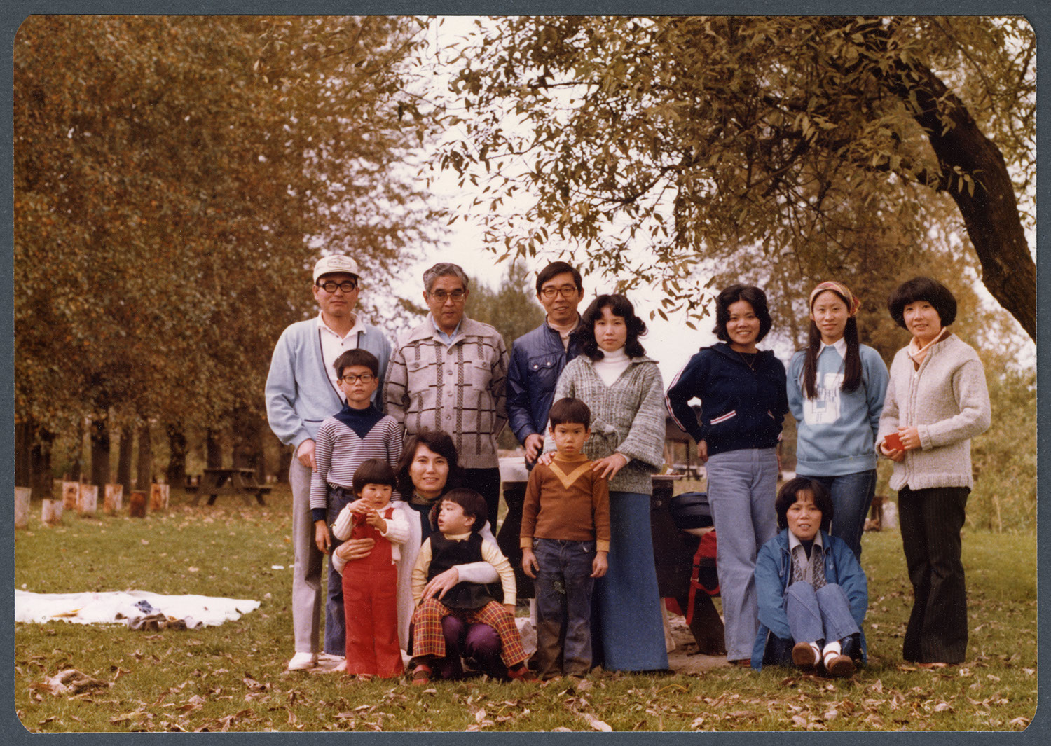 Group portrait in the park