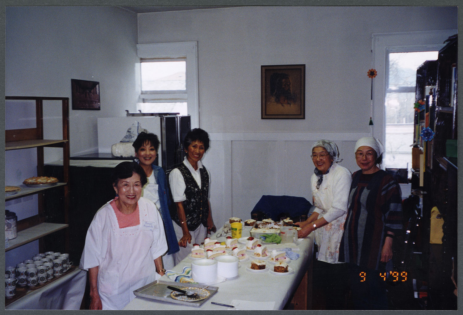 Spring bazaar at the church, 1999