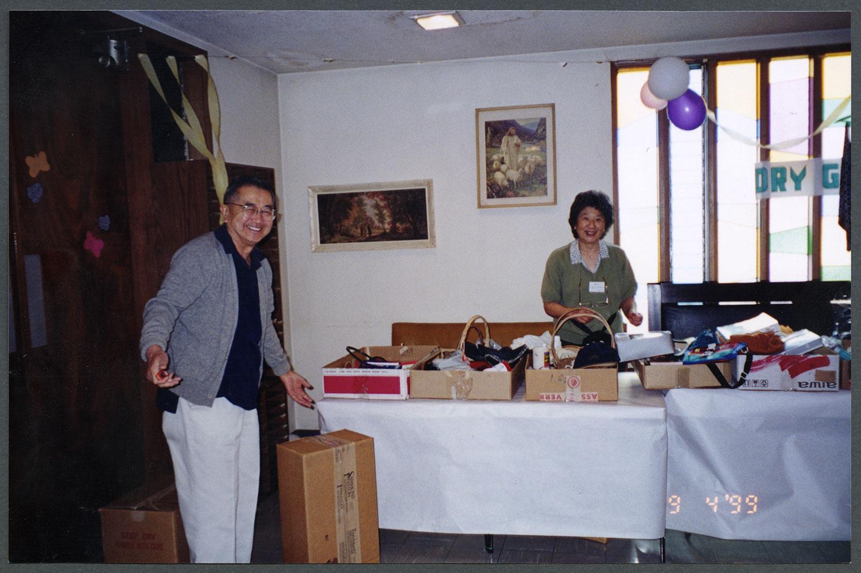 Spring bazaar at the church, 1999