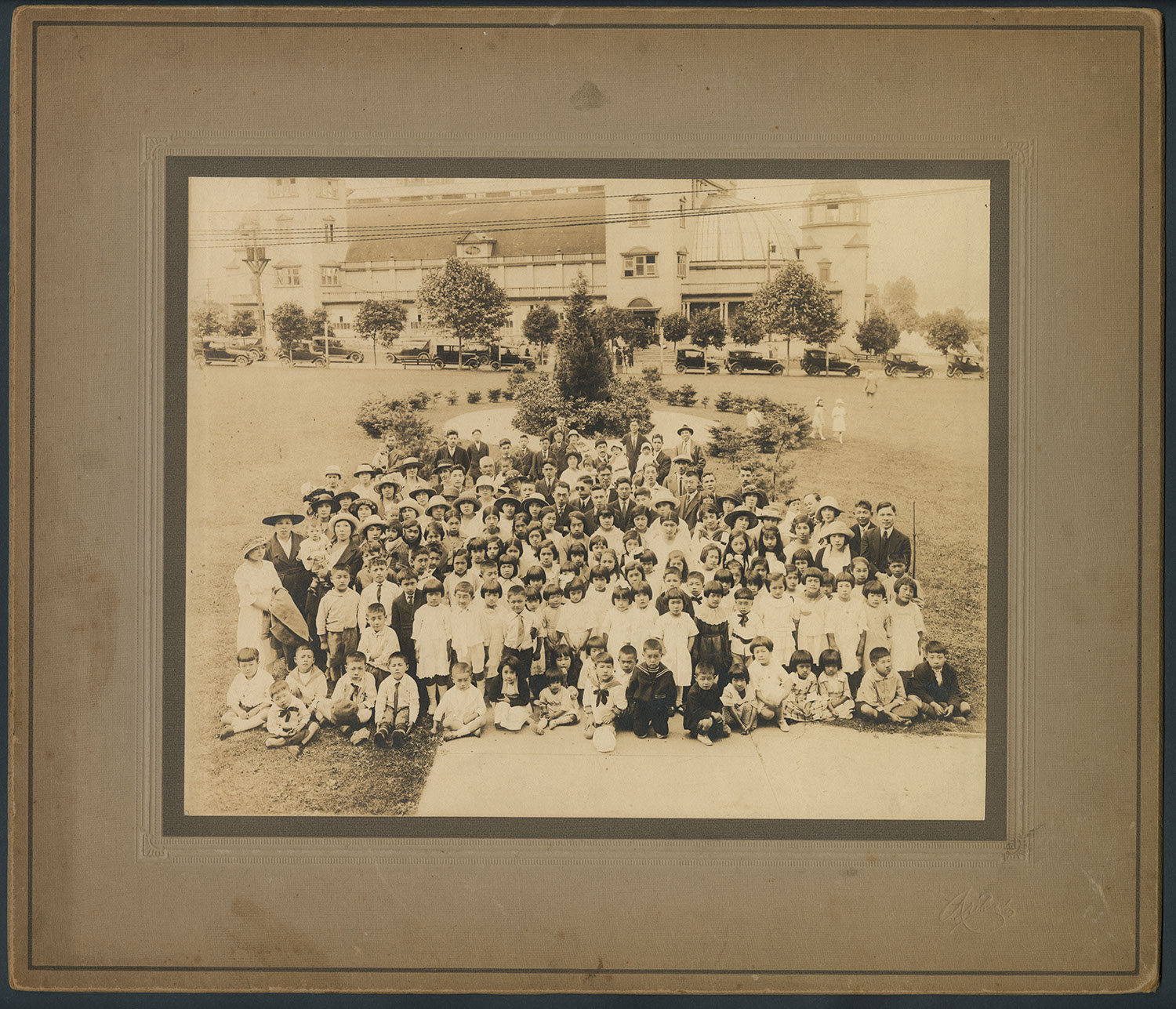 Joint Sunday school picnic in the park: Recto