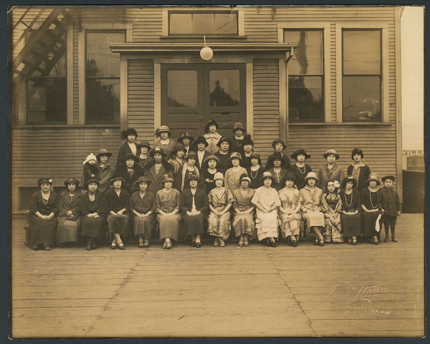 Women at the Vancouver Japanese Language School: Recto