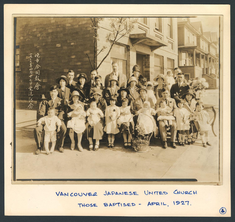 Those baptised - April, 1927