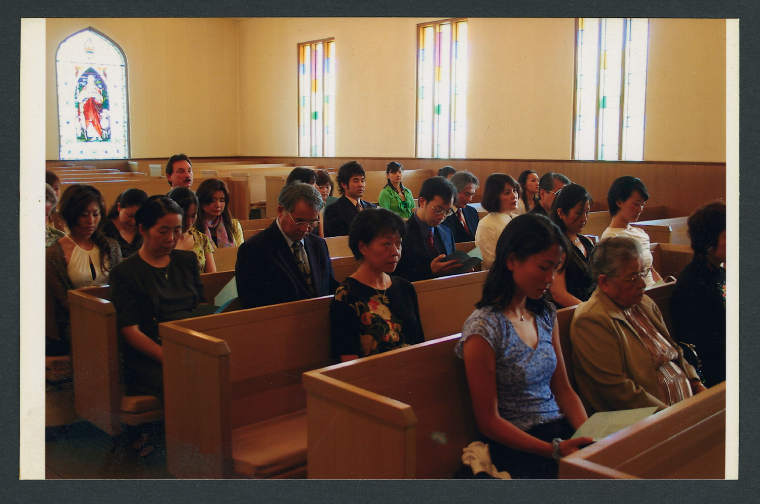 The congregation at worship