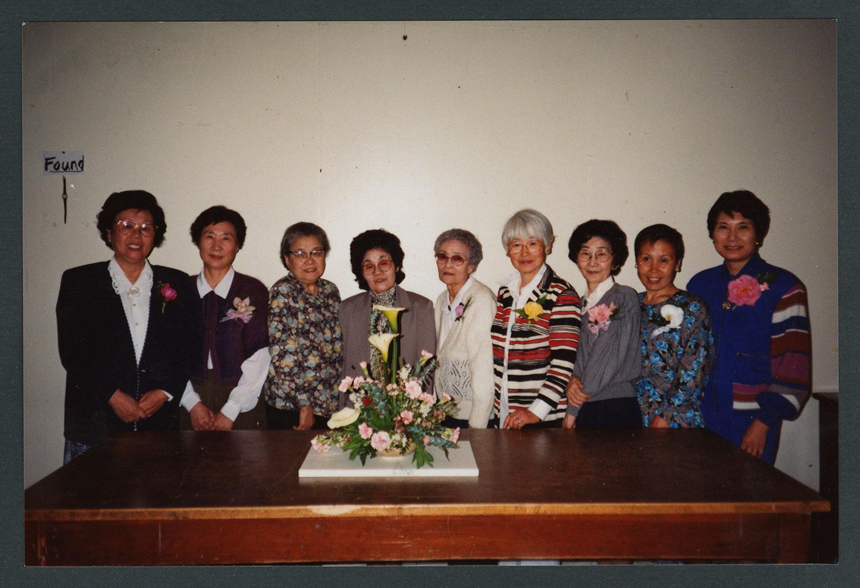 Nine women of the Japanese-speaking congregation